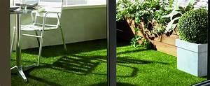 Deco Terrasse Pas Cher : du gazon sur ma terrasse ou mon balcon saint maclou ~ Teatrodelosmanantiales.com Idées de Décoration