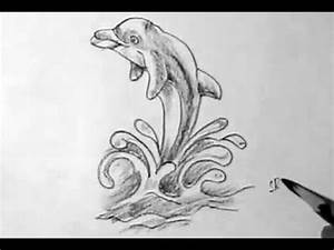How to draw dolphin jumping - YouTube