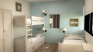Déco Bord De Mer Chambre : agrandir un appartement au touquet mh deco ~ Teatrodelosmanantiales.com Idées de Décoration