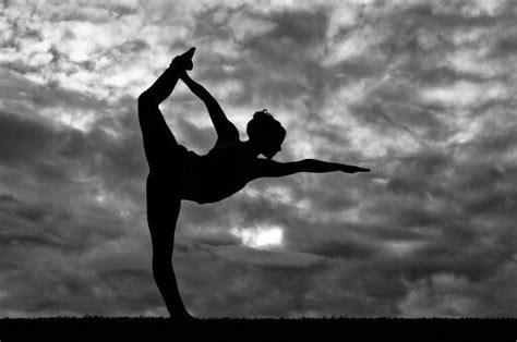 black  white photography yoga dancer pose bow