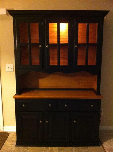 built in kitchen cabinets black and pine oak kitchen hutch diy diy home decor 4988