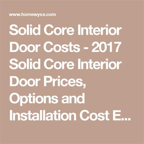solid core interior door costs  solid core interior