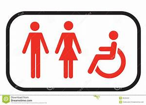 Restroom Sign People Stock Images