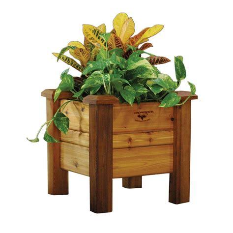 cedar planter box gronomics 18 in square safe finish cedar planter box pb