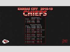 20182019 Kansas City Chiefs Wallpaper Schedule