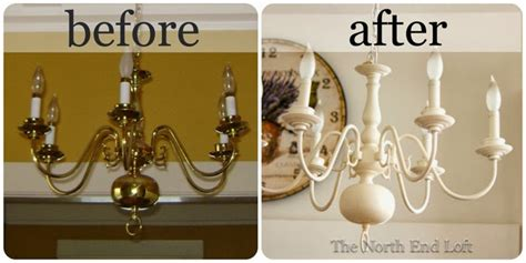 the end loft spray painting a 1990 s brass chandelier