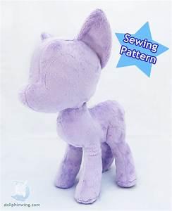 Pony Plush Sewing Pattern Mare Body Plushie PDF Instant