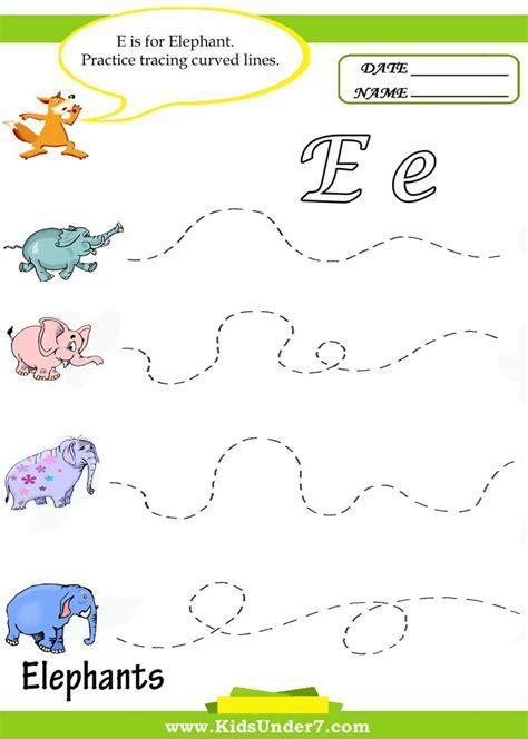 letter elephant e draw 7 letter e worksheets