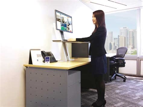 Ergonomic Monitor Stand by Standing Revolution Office Space Designs Promoting