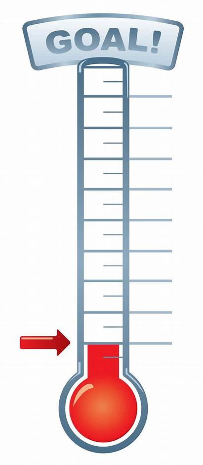Thermometer Clip Clipart Goal Blank Fundraising Template