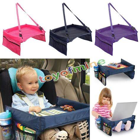 kid play car safety waterproof snack baby car seat table kids play