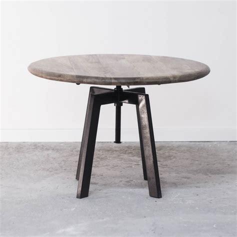 table basse industrielle ronde table basse de salon ronde industrielle en bois et m 233 tal