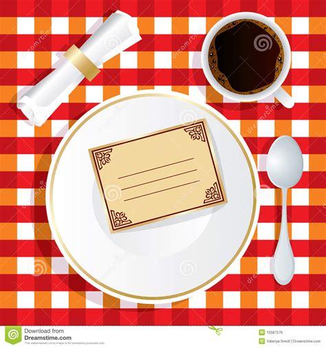 invitaci 243 n a almorzar ilustraci 243 n vector ilustraci 243 n de frontera 15587576