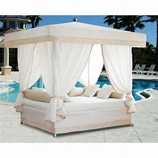 Luxury Outdoor Lounge Bed With Canopy  232011, Patio