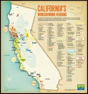 California Wine Regions Map