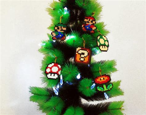 christmas tree decoration set super mario from beadxbead