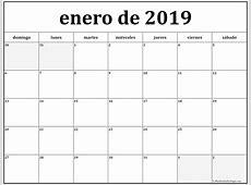 enero de 2019 calendario gratis Calendario de