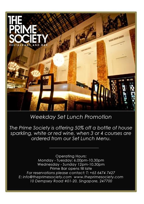 Promo Set Kulot Prime the prime society chope restaurant reservations