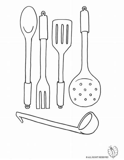 Utensils Cooking Coloring Pages Printable