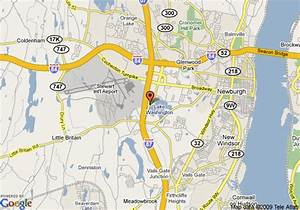 Map Of Hampton Inn Newburgh  West Point  Stewart Airport   Newburgh