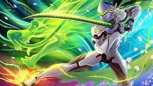 Wallpaper Overwatch Genji Fan Art HD Games 1579