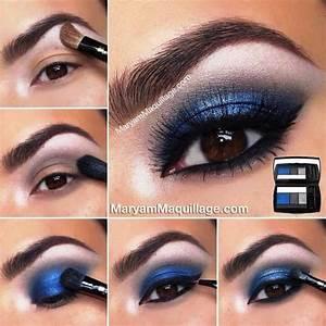 Maquillage Pour Yeux Marron : maquillage bleu nuit yeux marrons ~ Carolinahurricanesstore.com Idées de Décoration