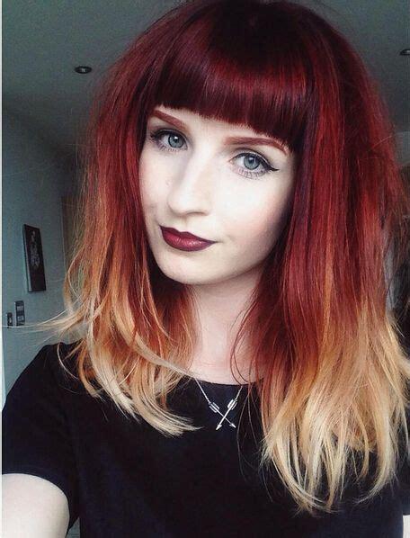 Best 25 Red Hair Bangs Ideas On Pinterest
