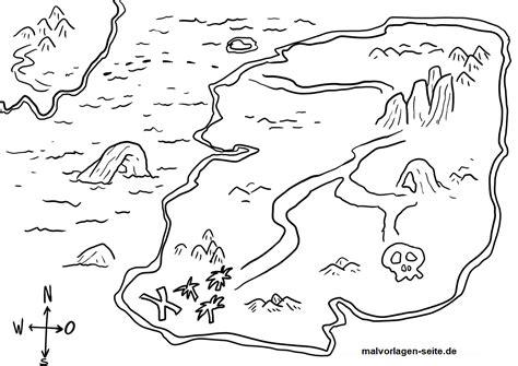 Kleurplaat Piraten Schatkaart by Kleurplaat Schatkaart Piraten Schat Gratis Kleurpagina S