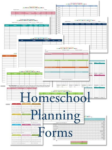 homeschool planning forms  confesions