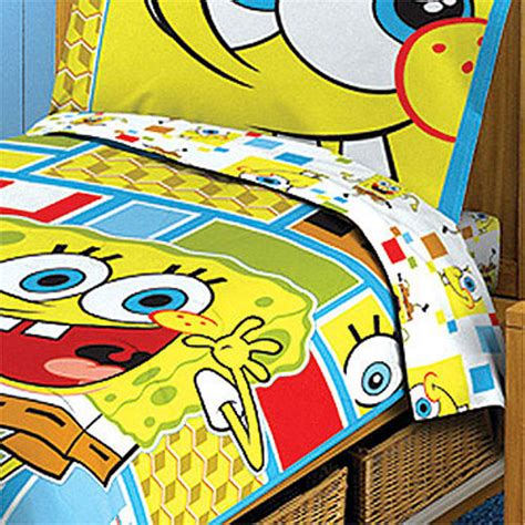 spongebob squarepants toddler bedding set 4pc comforter