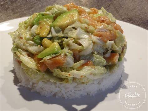 cuisiner un chou salade au chou chinois et saumon la tendresse en cuisine
