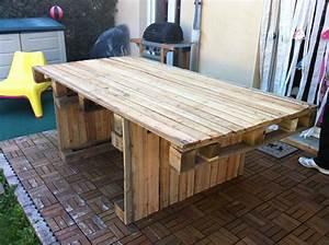 Palette De Bois : emejing table jardin palette tuto contemporary amazing ~ Premium-room.com Idées de Décoration