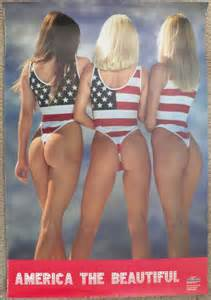 How To Wash Clothes In Bathtub by Patriotic Pinup Poster Three Girls In U S Flag Thong