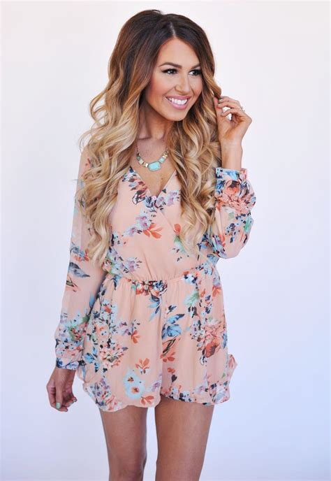 Best 25+ Long sleeve romper ideas on Pinterest | Rompers Floral romper long sleeve and Jumper ...