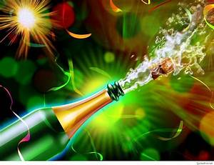 Happy new year 2017 hd wallpaper & champagne