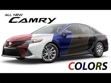 toyota camry colors 2018 toyota camry colors