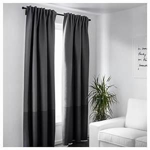 Ikea Rideaux Occultants : marjun rideaux occultant 1 paire gris 145 x 300 cm ikea ~ Teatrodelosmanantiales.com Idées de Décoration