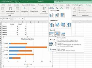 C U00f3mo Crear Un Diagrama De Gantt En Excel  Tutorial