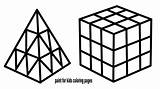 Cube Rubik Coloring Pages Draw Drawing sketch template