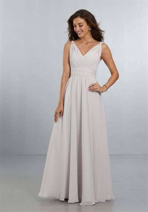 Bridesmaid Dresses by Chiffon Bridesmaids Dress With V Neckline And V Back