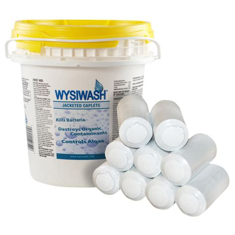 clean deck with chlorine wysiwash caplets for animal care veterinary facilities