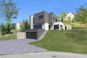 photos maisons en pente With construction maison sur terrain en pente