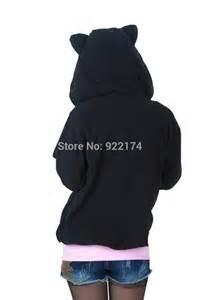 cat hoodie cat hoodie costume animal ear hoodie sweatshirt