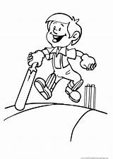Cricket Bat Boy Coloring Sport Pages Player Game Template Printable Wireless Sketch Getcoloringpages Templates Coloringkids sketch template