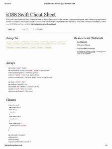 Ios8 Swift Cheat Sheet And Quick Reference Guide