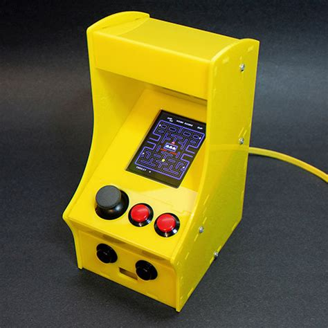 mini pac arcade cabinet builders kit cupcade the raspberry pi powered micro arcade cabinet kit