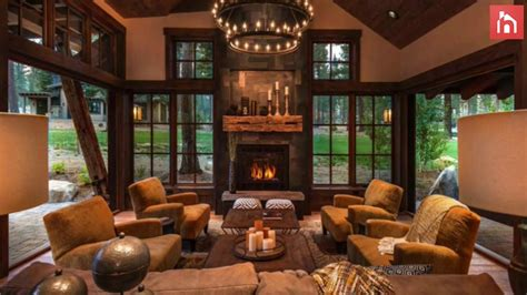 rustic living room decor ideas inspired  cozy mountain