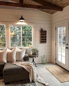 58, Comfy, Modern, Farmhouse, Sunroom, Decor, Ideas