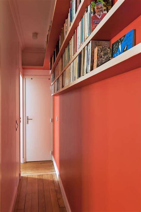 amenagement couloir etroit  sombre decoration
