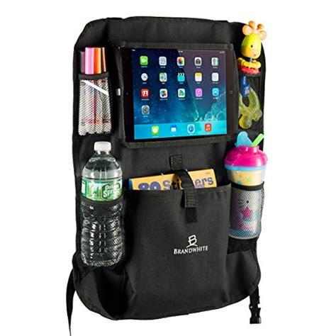 car back seat organizer for touch screen pocket for